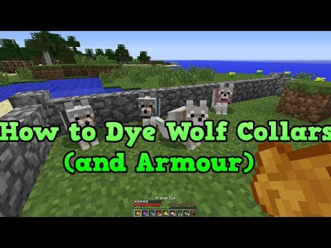 Minecraft Xbox 360 & PS3: How to dye wolfs (wolf collars)