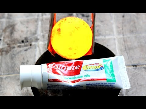 Iron Ball 1000 degree and Toothpaste - Burning reaction