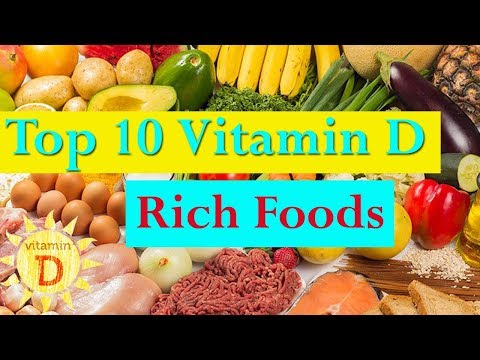 Vitamin D | Foods With Vitamin D | Top 10 Vitamin D Rich Foods | 10 Foods High in Vitamin D
