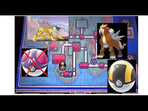 how to catch entei and raikou without a master ball in pokemon soul sliver/heartgold