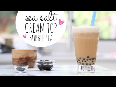 Sea Salt Cream Top Bubble Tea ♥ Drink Recipe