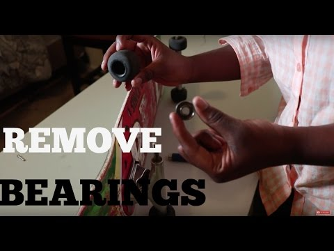 How To Remove Bearings from skateboard Wheels! Easy