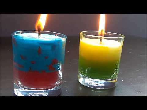 DIY AROMA CANDLES USING WAX CRAYONS & WAX CANDLE/S.A.GALLERY