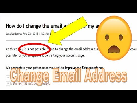 Can You Change the Email Address of your Fortnite Account? No - Here's Why [Brief Explanation]