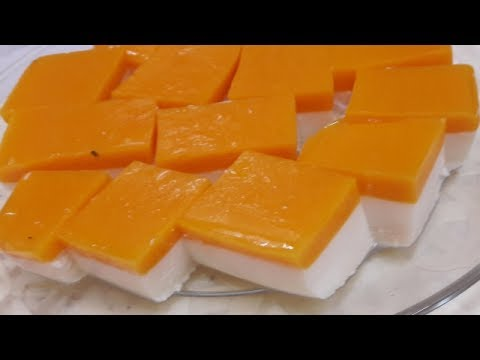 Milk Mango pudding recipe/how to make Milk  dessert (English subtitle)
