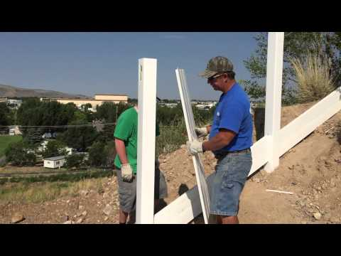 INSTALL VINYL FENCE ON A VERY STEEP HILL