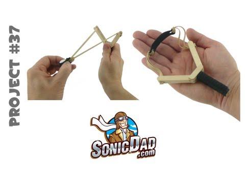 How to Make a Slingshot - SonicDad Project #37 (Mini Slingshot)