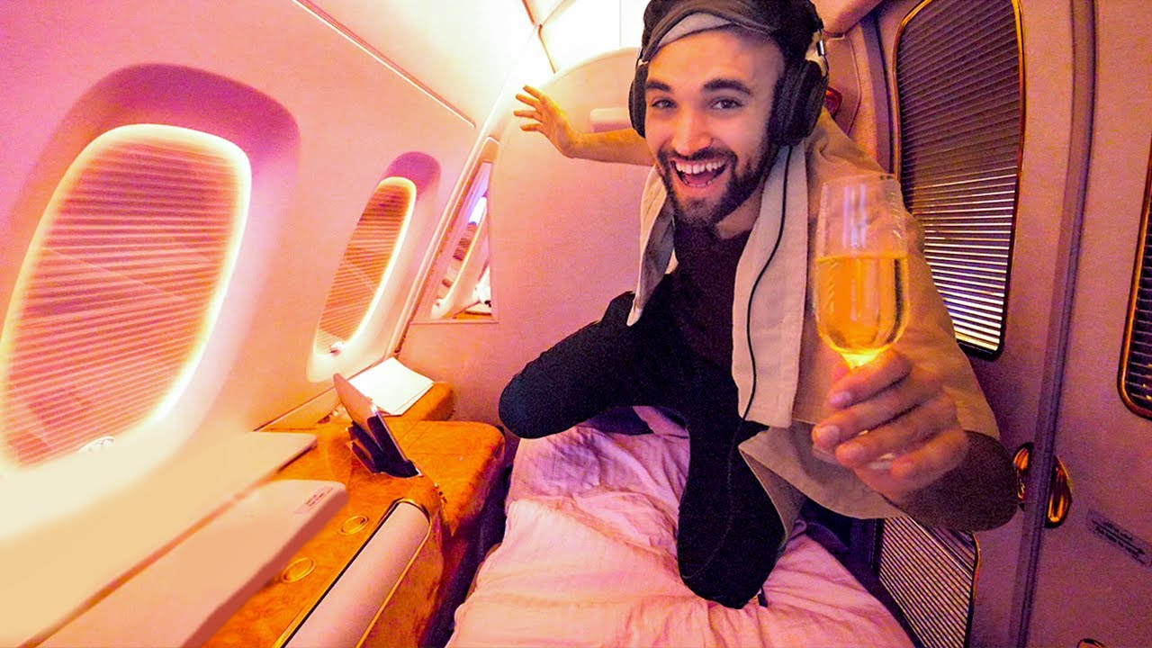 WORLD'S BEST FIRST CLASS AIRPLANE SEAT!