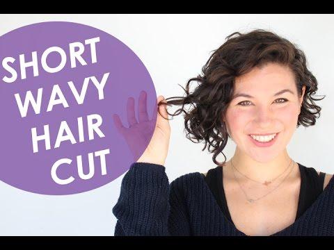 Short Wavy Hair Cut
