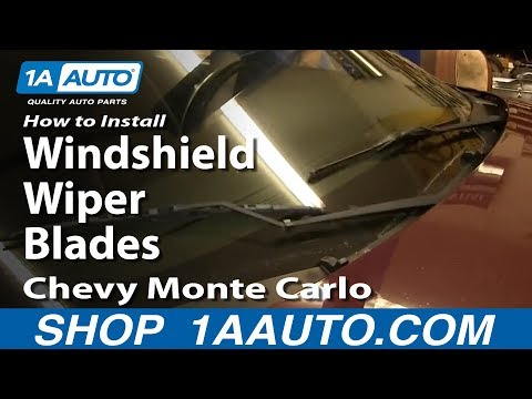 How To Install Replace Windshield Wiper Blades 2000-07 Chevy Monte Carlo