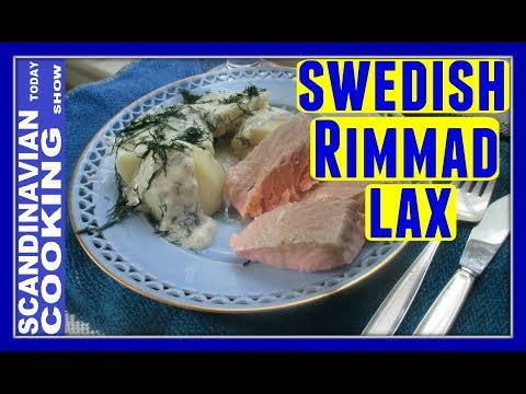 Swedish Salted Salmon with Dill Sauce Recipe 🐟 Homemade Rimmad lax
