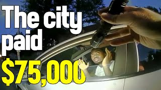 OFFICER COSTS THE CITY $75,000 OVER RACIAL PROFILING