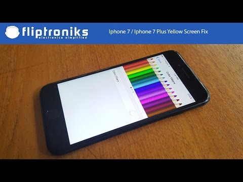 Iphone 7 / Iphone 7 Plus Yellow Screen Fix - Fliptroniks.com