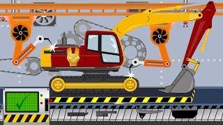 Iron Man Excavator | Toy Factory - Video for Kids | Fabryka Zabawek - Koparka