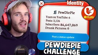Download The PewDiePie Challenge in Bitlife - how many followers can we get? Video