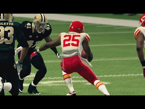 Angry Madden Player Talks Trash? NFL Week 9 - Madden 25 Online Gameplay (Saints vs Chiefs)