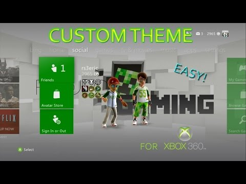 How to Make a Custom Dashboard Theme Xbox 360 2016