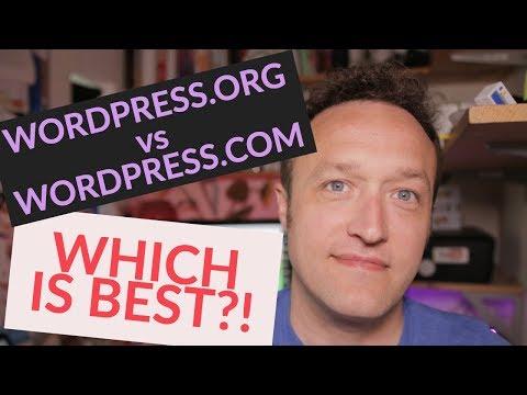 WordPress.com vs WordPress.org PLUS how to setup a SELF HOSTED WordPress site