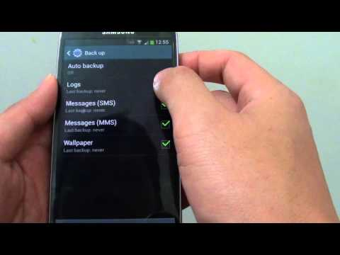 Samsung Galaxy S4: How to Backup Logs, SMS, MMS and Wallpaper
