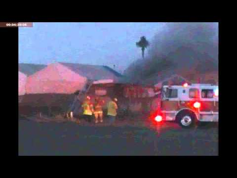 Ventura City Fire Dept. Fights Fire 07/19/11