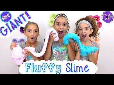 DIY FLUFFY SLIME!  GIANT FLUFFY SLIME!