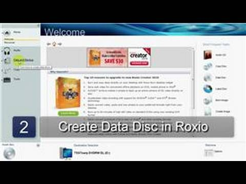 Video : How to Burn a DVD Using Roxio