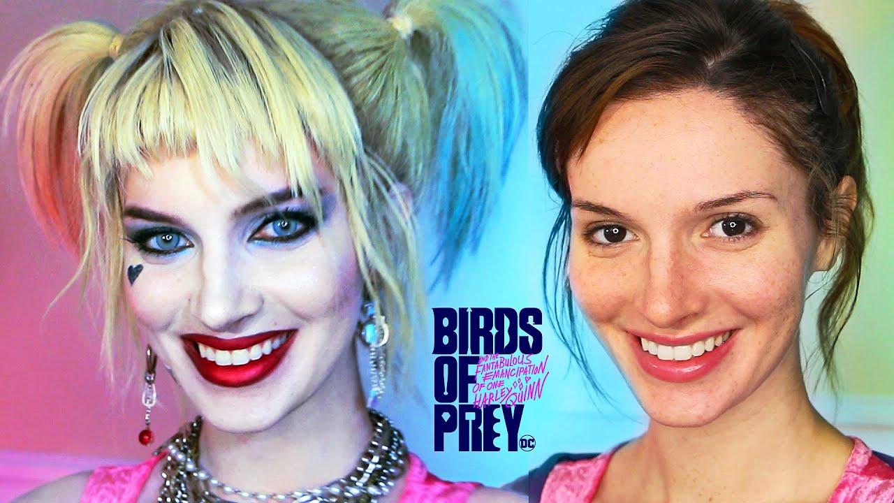 Harley Quinn (Birds of Prey) Makeup / Costume Transformation - Cosplay Tutorial