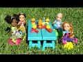 Download Video Download PICNIC ! Elsa and Anna toddlers - hide and seek - Barbie - food truck - tree house 3GP MP4 FLV