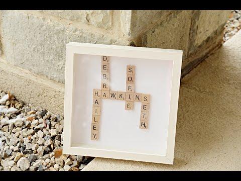 Family Scrabble Shadowbox