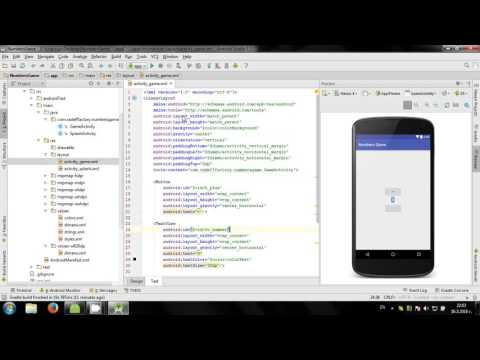 Develop simple Numbers Game in Android Studio