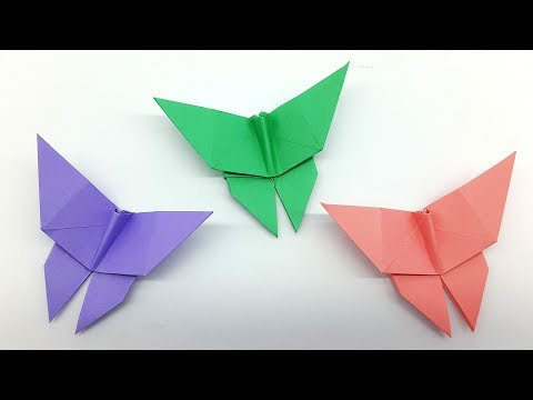 Origami Butterfly easy step by step - DIY Crafts