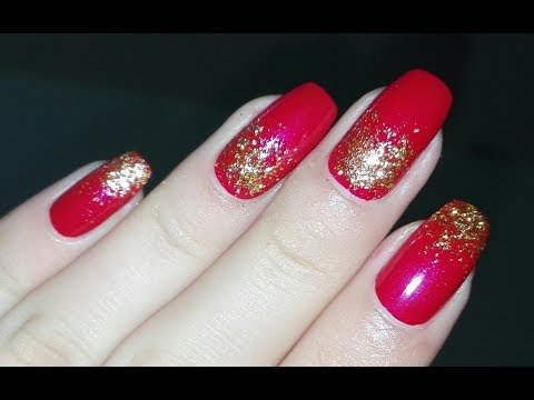 Easy DIY  Christmas/New Year Nail Art Tutorial: Festive Nails | Rose Pearl