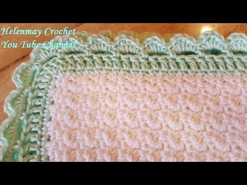 Helenmay Crochet My Little Sweet Pea Quick Easy Beginner Baby Blanket DIY Video Tutorial