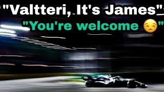 Valtteri Bottas receiving team orders from James AGAIN?!