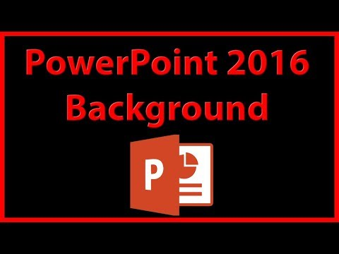 How to create a background picture in PowerPoint 2016 - Tutorial