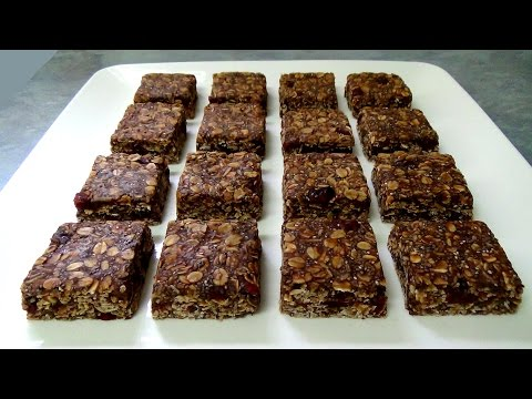 how to make healthy easy granola caramel chocolate bars
