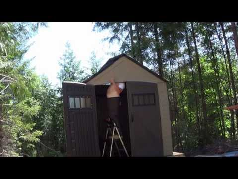 Building Rubbermaid Shed at Morning Wood