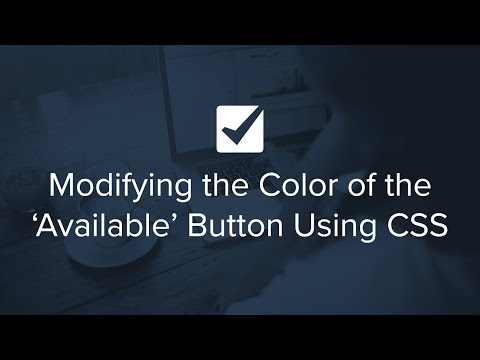 Modifying the Color of the 'Available' Button Using CSS | Checkfront's 2 Minute Check-Ups