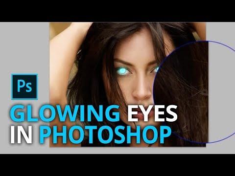 Change eye color in Photoshop - Glowing eyes