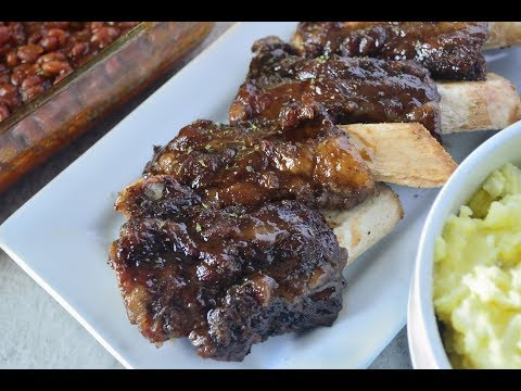 How to Oven Bake BBQ Ribs - Easy BBQ Beef Ribs