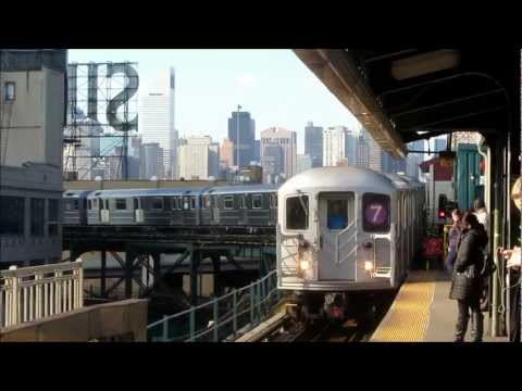 The 7 Train and Driver's view in Queens New York City