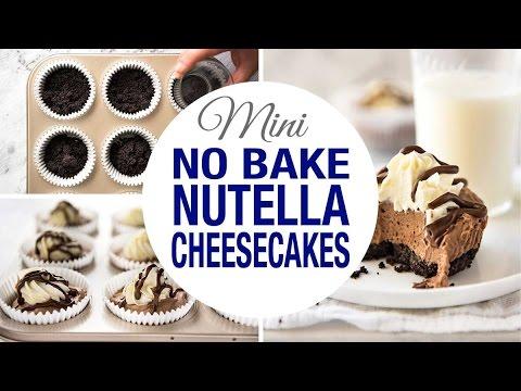 No Bake Nutella Mini Cheesecakes