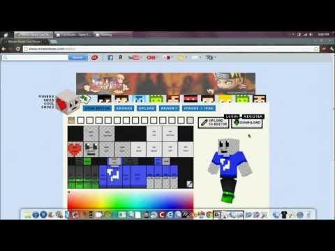 How to create minecraft pocket edition skins for free (No Jailbreak)