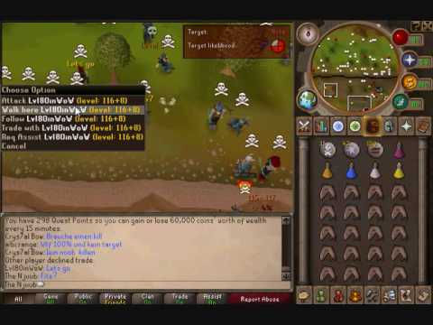 Runescape pvp/bh vid 1 - ags,claws,whip, dds spec ,combo's
