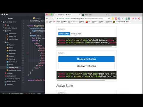 Reactstrap - 06 - Buttons and onClick