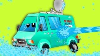 News van | car wash | cartoon  special street vehicles | video for kids