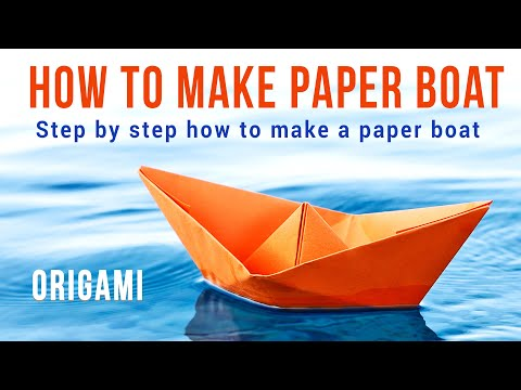 How to make a Paper Boat - 8 Easy Steps.