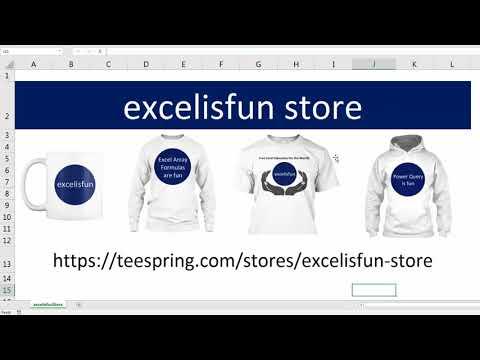excelisfun Store for Mugs & Shirts