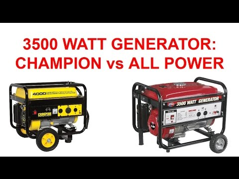Free Generator Governor Repair - All Power 3500w Generator Parts