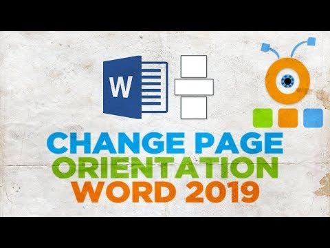How to Change Page Orientation the middle of a Document in Word 2019